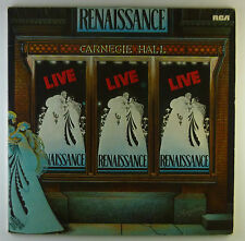 """2 x 12"""" LP - Renaissance  - Live At Carnegie Hall - L4720 - washed & cleaned"""