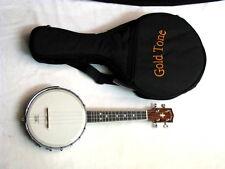 GOLD TONE Banjolele banjo ukulele NEW w/ Gold Tone Heavy-duty Gig Bag