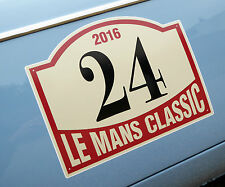LE MANS 24 HOURS 'CLASSIC' 2016 PAIR of DOOR NUMBER stickers decals