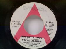 """STEVE ALAIMO """"NOBODY'S FOOL / THORN IN OUR ROSES"""" 45 PROMO"""