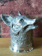 MAGNIFICO Argento Sterling & dorati Fox Head STAFFA Tazza da William Comyns
