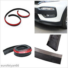 2.5m Car SUV Front Rear Bumper Lip Guard Splitter Valance Chin Protector 3M Tape