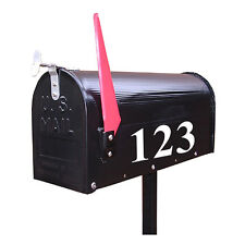 Street Address Mailbox INDIVIDUAL Number Numbers vinyl decal stickers White