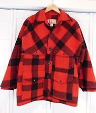 C.C. Filson Vintage Double Mackinaw Cruiser Red Plaid Hunting Coat Jacket 40