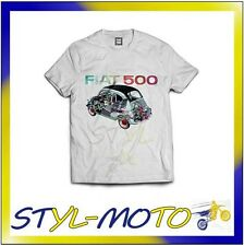 FITT13 FIAT 500 T-SHIRT BIANCA SPACCATO (L) FIAT UFFICIALE ORIGINALE