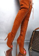 NEU 2017 Hohe Overknee Lang Stiefel Damen Luxus Boots N55 Schuhe Sexy High Heels