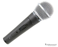 Shure SM58s Dynamic Handheld Vocal Microphone w/ On/Off Switch & Free Mic Cable