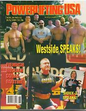 POWERLIFTING USA muscle weightlifting magazine/Westside Barbell Club 6-01