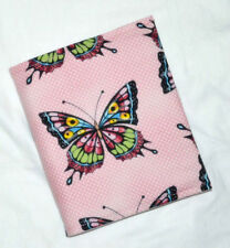 A6 PINK BUTTERFLIES Student Journal Diary Sketch Travel Art Journal Cover
