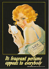 ROBERT  OPIE  ADVERTISING  POSTCARD  -  LUX  TOILET  SOAP