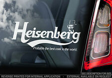 Heisenberg Car Sticker - Walter White Breaking Bad - Probably Best Cook in World