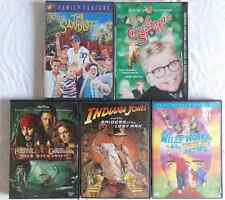Lot of 5  Movies-Raiders/Lost Ark, Sandlot,Christmas, Willy Wonka,Pirates Carr.