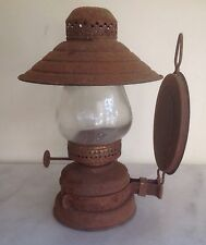 """Vintage Hilco Copper Oil Lamp 6 1/2"""" w/Reflector from Hong Kong British Empire"""