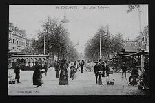 Carte postale ancienne CPA animée TOULOUSE - Les Allées Lafayette