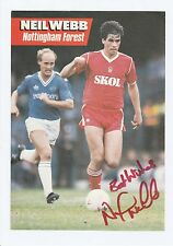 NEIL WEBB NOTTINGHAM FOREST 1985-89 & 1992-94 ORIGINAL SIGNED ANNUAL CUTTING