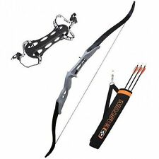 Easton Youth Recurve Bow Arch Kit Blk arrows  Black Arrows and Quiver