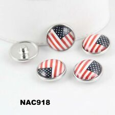 10pcs mix DIY fashion chunk snap button fit nosa bracelet hot sell j3977