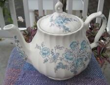 Sadler Springtime Blue Floral Four Cup Teapot Made in England