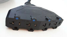 100' 12 Gauge Black Extension Cord with 4 15/20 AMP Outlets