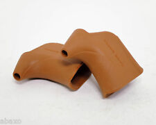 Dia Compe Hoods, Non Aero Brake Lever, 1 Pair, Brown