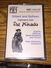 Gilbert & Sullivan Highlights From The Mikado Cassette New!
