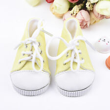 Handmade Canvas Yellow Doll Shoes for 18 inch American Girl Doll Baby Toys