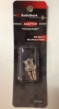 Radioshack Adapter BNC male To RCA phono Female (278-254)