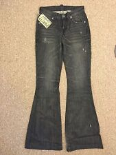 Pratt's Buel Jeans Flare Leg in Road Demon Sz 25 (25x33)