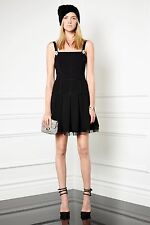 JUICY COUTURE Pitch Black BROOCH DETAIL PONTE DRESS sz 6 $228 NEW