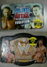 Lot de 2 boites de carte catch WWE Wrestling slam attack evolution NEUF NEW RARE