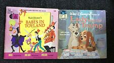 2 Walt Disney's Story of Babes in Toyland Lady and the Tramp Record Book 33 1/3