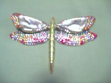 Joan Rivers Pave Crystal & Abalone Shell Dragonfly PIN/Brooch