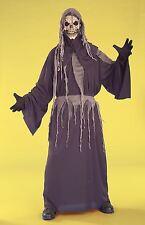 Skeleton Reaper Shroud robe boys kids halloween costume