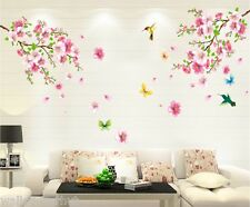 Pretty Pink Blossom Flowers UK Wall Sticker