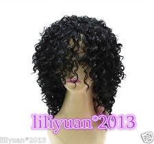 Michael Jackson/Black Screws Black Hair Short Hair Pigtail Wig