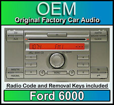 Ford 6000 Silver CD player, Ford Focus car stereo headunit + radio removal keys