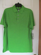NWT Men's Pro Series Golf Lime Green Short Sleeved Polo Shirt Size Small