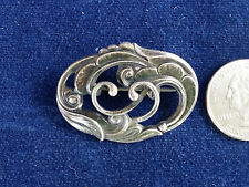 1920s Danish Eiler and Marloe Art Nouveau sterling brooch style No. 209