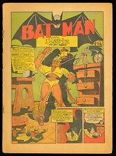 DETECTIVE COMICS #44 BATMAN ROBIN 1940 CRIMSON AVENGER NEW COSTUME COVERLESS