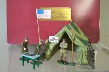 BRITAINS 41106 GENERAL PERSHING & STAFF WWI US LEADERS SCENE MINT BOXED my