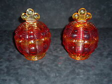 "ELEGANT PAIR OF VINTAGE PRESSED GLASS ""CANDY DISHES"""