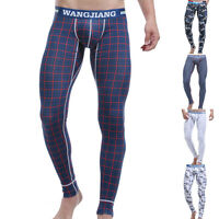 Sexy Mens Warm Underwear Winter Thermal Long Johns Bottoms Pants Tight Trousers