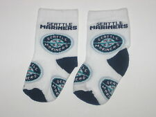 Seattle Mariners Team Logo Cotton Baby Booties - First Pair Of Socks!