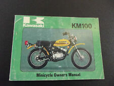 Kawasaki KM100A4 KM 100A4 KM 100 A4 1979 Model Genuine Owners Handbook Manual