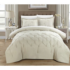 Chic Home 3-piece Nikola Pinch Pleat Pintuck Duvet Cover Set
