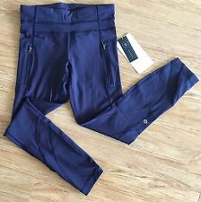 BNWT Lululemon DEEP INDIGO Inspire Tight II* Brushed! Size 4! SUPER GORG ITEM