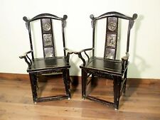 Antique Chinese High Back Arm Chairs (5569) (pair), Circa 1800-1849