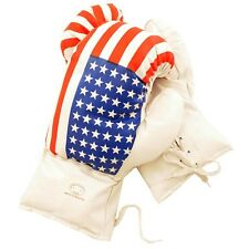 AGE 8-10 KIDS 8 OZ BOXING GLOVES YOUTH PRACTICE TRAINING MMA American USA Flag