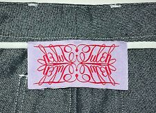 """Tuleh Women's Silver Lightweight High-Rise Straight Jeans Actual W 27"""" L 30"""" EUC"""