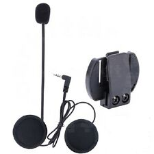 Mic/Speaker Headset+Clips for 1200M Motorcycle Bluetooth Interphone V6 Intercoms